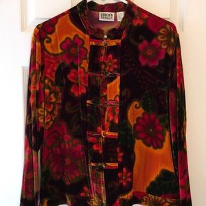 Chico velvet kimono style jacket